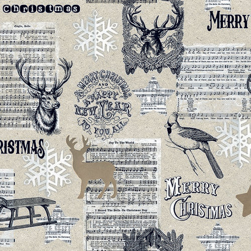 5 Napkins Joy To The World 33 x 33cm Tissue Decoupage Paper Party Card Crafts