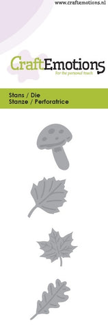 Leaves Mushrooms Stencil Die Universal Embossing Cutting Machine Sizzix Card Making - Hobby & Crafts