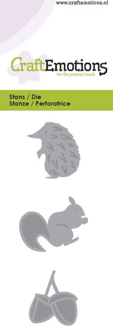 Hedgehog Squirrel Stencil Die Universal Embossing Cutting Machine Sizzix Card Making - Hobby & Crafts