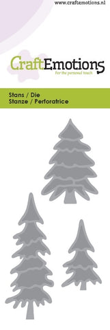 Pine Trees Stencil Die Universal Embossing Cutting Machine Sizzix Card Making - Hobby & Crafts
