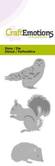 Owl Hedgehog Squirrel Stencil Die Universal Embossing Cutting Machine Sizzix Card Making - Hobby & Crafts