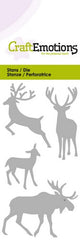 Moose Deer Stencil Die Universal Embossing Cutting Machine Sizzix Card Making - Hobby & Crafts