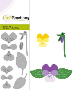 Violets Stencil Die Universal Embossing Cutting Machine Sizzix Card Making - Hobby & Crafts