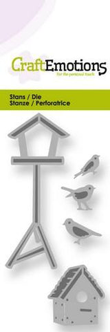 Birdhouses And Birds Stencil Die Universal Embossing Cutting Machine Sizzix Card Making - Hobby & Crafts