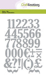 Numbers Stencil Die Universal Embossing Cutting Machine Sizzix Card Making - Hobby & Crafts