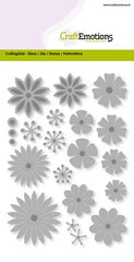 Flower Mix Large Stencil Die Universal Embossing Cutting Machine Sizzix Card Making - Hobby & Crafts