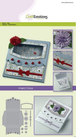 A5 Merci Box Stencil Die Universal Embossing Cutting Machine Sizzix Card Making - Hobby & Crafts