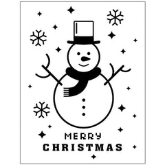 "Embossing Folder Suitable For All Machines 5.5"" x 4.5"" - Snowman Merry Christmas"