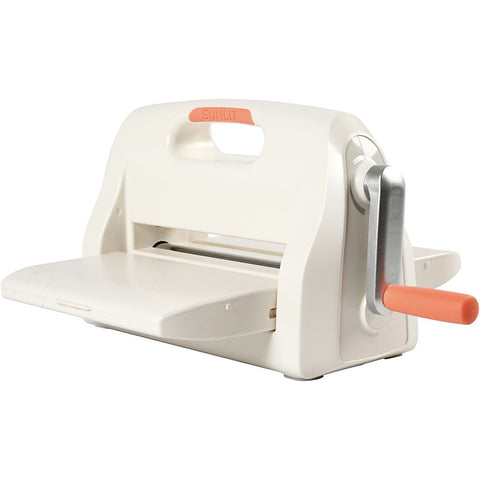 A4 Sunlit White Colour Die Cut Embossing Machine Sizzix With Plate Sheet Worktop - Hobby & Crafts