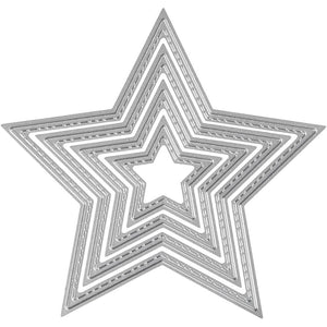 Carving Star Motifs Die Cut Punching Machine Silicone Plate Crad Felt Craft 12cm