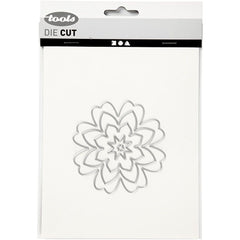Carving Flowers Motifs Die Cut Punching Machine Silicone Plate Card Crafts 8.1cm - Hobby & Crafts