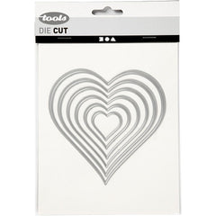 Carving Heart Motifs Die Cut Punching Machine Silicone Plate Card Crafts 11.5 cm - Hobby & Crafts