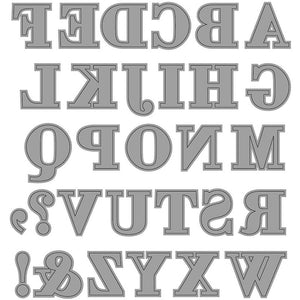 Carving Alphabet With Sign Motif Die Cut Punching Machine Silicone Plate Crafts