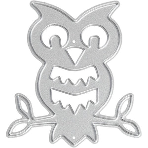 Carving Owl On Branch Motifs Die Cut Punching Machine Silicone Plate Crad Crafts - Hobby & Crafts