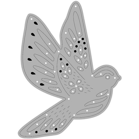 Carving Flying Bird Motifs Die Cut Punching Machine Silicone Plate Crad Crafts