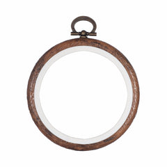 Embroidery Flexi Hoop CrossStitch Sewing Round Plastic Frame - 4 inch - Hobby & Crafts