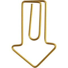 6 x Arrow Shaped Metal Gold Colour Paperclips For Card Gift Decorations 40 mm x 25 mm