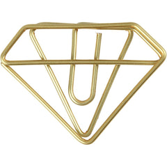 Diamond Shaped Metal Gold Colour Paperclips For Card Gift Decorations 35 mm x 25 mm