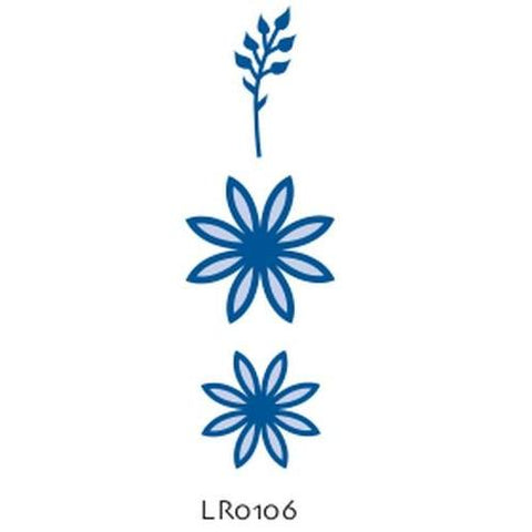 LR0106 - Marianne Creatables Stencil Die Cutting Embossing Sizzix - Flora 2 - Hobby & Crafts