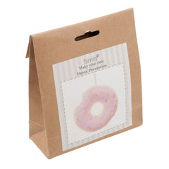1 x Trimits Doughnut Pre Punched Felt Kits For Beginners 25 mm - Hobby & Crafts