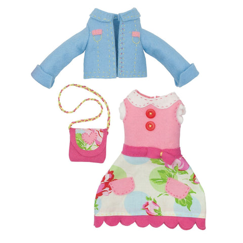 Emma Doll Outfit Felt Appliqu?® Craft Kit Embellishment Needlecraft Kits Canvases - Hobby & Crafts
