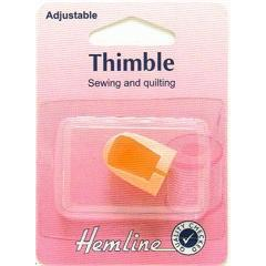 Hemline Sewing and Quilting Thimble Adjustable - Hobby & Crafts