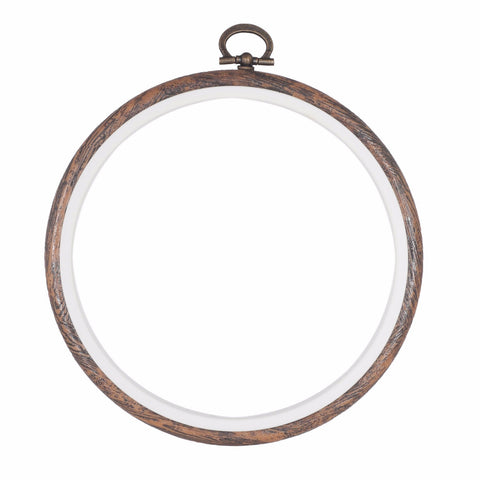 Embroidery Flexi Hoop CrossStitch Sewing Round Plastic Frame - 5 inch - Hobby & Crafts
