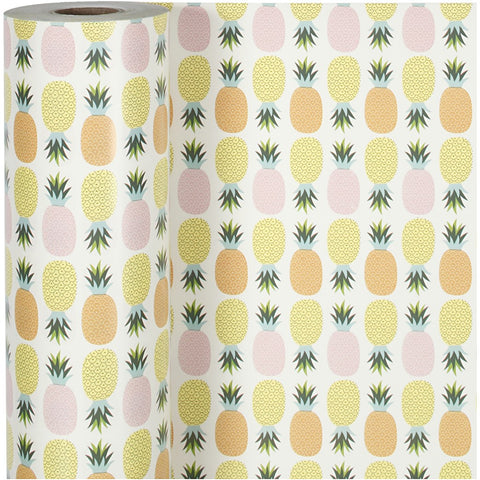 Pineapple Roll Of Christmas Wrapping Paper Giftswrap Home Crafts Decor 80g 150m - Hobby & Crafts