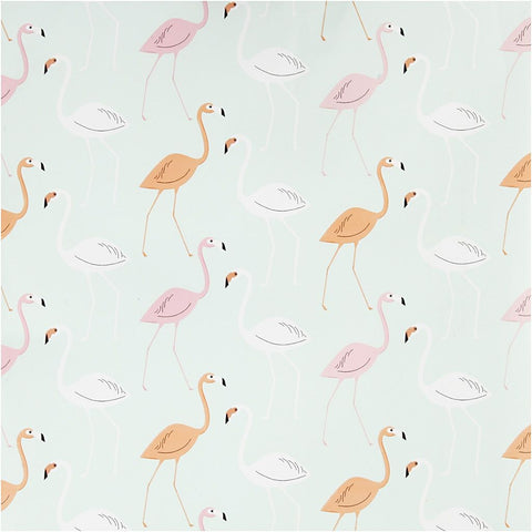 Flamingo Roll Of Christmas Wrapping Paper Giftswrap Home Craft Decoration 80g 5m - Hobby & Crafts