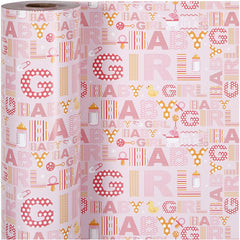 Baby Girl Roll Of Christmas Wrapping Paper Giftswrap Home Crafts Decor 80g 150m - Hobby & Crafts