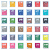 36 x Aladine All Colour Acrylic Pigment Ink Stamp Pad Scrapbooking Wooden Crafts 5x5 cm - Hobby & Crafts