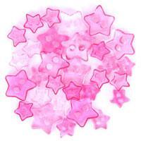Trimits Mini Craft Transparent Star Buttons - Pink Shades - Hobby & Crafts