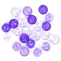 Trimits Mini Craft Transparent Round Buttons - Purple Shades - Hobby & Crafts