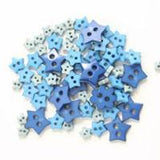 Trimits Mini Craft Star Buttons - Blue Shades - Hobby & Crafts