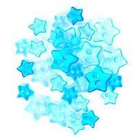 Trimits Mini Craft Transparent Star Buttons - Turquoise Shades - Hobby & Crafts