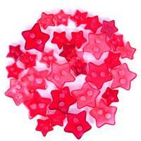 Trimits Mini Craft Transparent Star Buttons - Red Shades - Hobby & Crafts