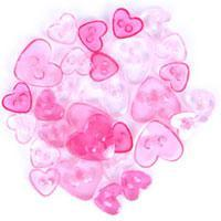 Trimits Mini CraftTransparent Heart Buttons - Pink Shades - Hobby & Crafts