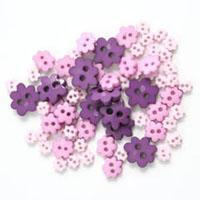 Trimits Mini Craft Flowers Buttons - Purples Shades - Hobby & Crafts