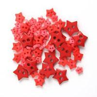 Trimits Mini Craft Stars Buttons - Red Shades - Hobby & Crafts