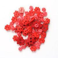 Trimits Mini Craft Flower Buttons - Red Shades - Hobby & Crafts