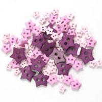 Trimits Mini Craft Stars Buttons - Purples Shades - Hobby & Crafts