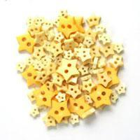 Trimits Mini Craft Star Buttons - Yellow Shades - Hobby & Crafts
