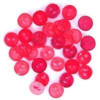 Trimits Mini Craft Transparent Round Buttons - Red Shades - Hobby & Crafts
