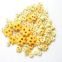Trimits Mini Craft Flowers Buttons - Yellow Shades - Hobby & Crafts