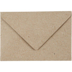 50 x Rectangular Natural Colour Recycled Paper Envelopes Office Mailing Supply - Hobby & Crafts