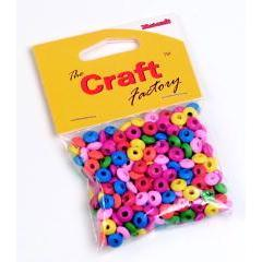 Craft factory Coloured Wooden Beads 8mm -15grams - Hobby & Crafts