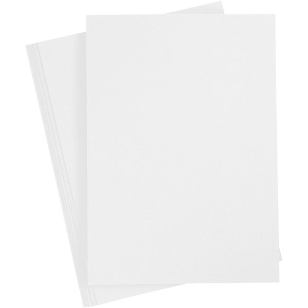 10 x A4 White Colour Double Sided Greeting Invitation Crafts Cards Party Blanks - Hobby & Crafts
