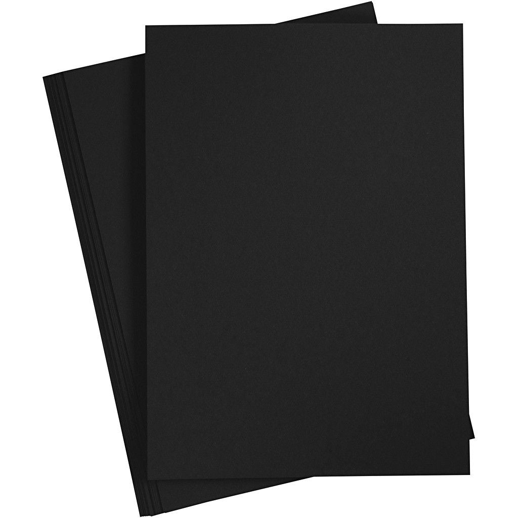10 x A4 Black Colour Double Sided Greeting Invitation Crafts Cards Party Blanks - Hobby & Crafts