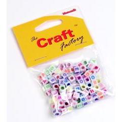 Craft Factory Alphabet Coloured Plastic Beads - 20 grams - Hobby & Crafts