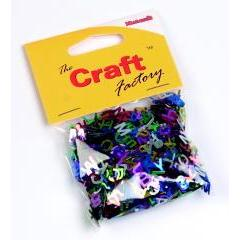 Craft Factory Assorted Shiny Metallic Paillette Letters 15 grams Multicoloured - Hobby & Crafts